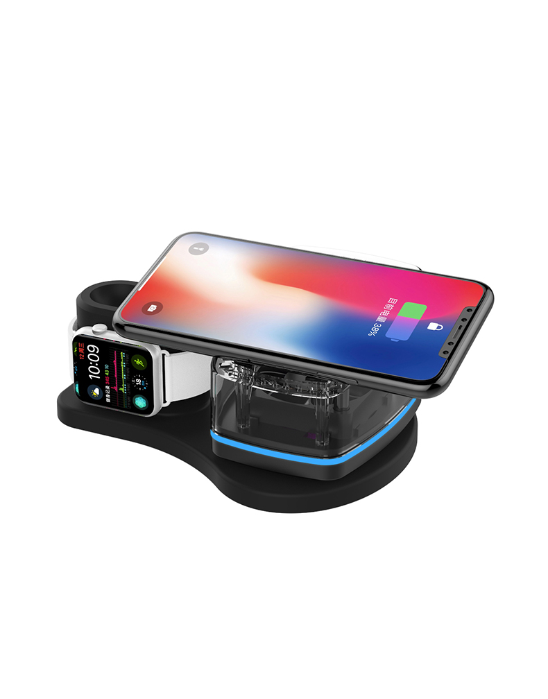 KW-019+ 3 in 1 Fast wireless charger